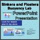 Sinkers & Floaters Buoyancy BUNDLE - Lesson Plan, PPT and Lab Observation Sheet