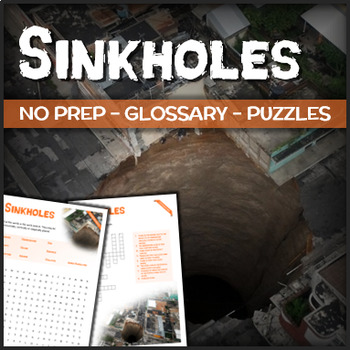 Sinkholes - Puzzles & Glossary