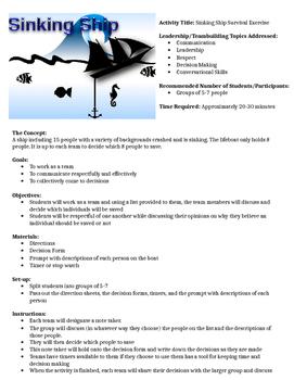 Sinking Ship- Leadership Team Builder