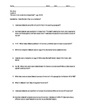 """Sinners In the Hands of An Angry God"" Guided Reading Worksheet"