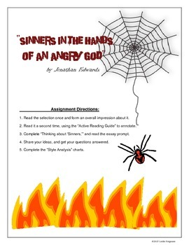 """""""Sinners in the Hands of an Angry God"""" Essay Bundle"""