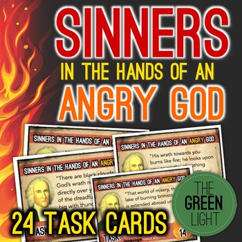Sinners in the Hands of an Angry God Figurative Language Task Cards