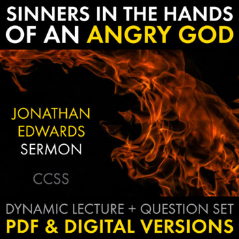 Sinners In The Hands Of An Angry God Worksheets Teaching