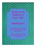 """""""Sinners in the Hands of an Angry God"""" Quiz"""