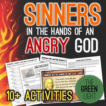 Sinners In The Hands Of An Angry God Worksheets Powerpoint Task Cards