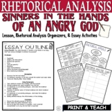 Sinners in the Hands of an Angry God by Edwards Rhetorical Analysis Writing PDF
