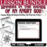 Sinners in the Hands of an Angry God by Jonathan Edwards: Lesson Bundle