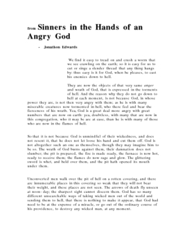 expository essay sinners in the hands of an angry god