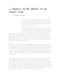 """""""Sinners in the Hands of an Angry God"""" text and questions"""