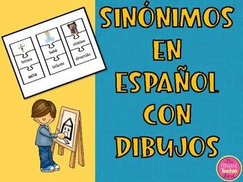 Sinónimos con dibujos en español