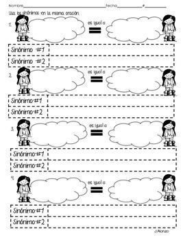 Sinónimos y antónimos páginas duplicadas