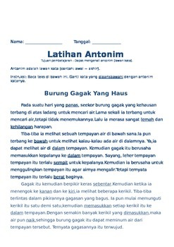 Sinonim Antonim (Bahasa Indonesia)