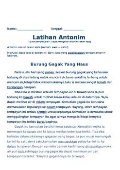 Sinonim Antonim (Bahasa Indonesia)