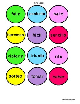 Sinónimos Gumball Machine Games - SPANISH - SYNONYMS