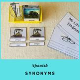 Sinónimos Tarjetas en Español (Montessori)