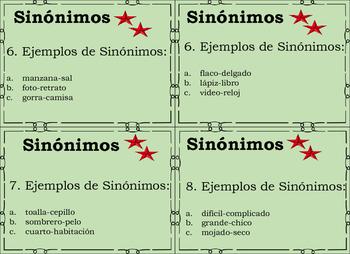 Sinonimos Task Cards