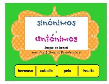 Sinonimos y Antonimos Juego de Dominos by The Bilingual ... - photo#50