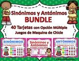 Sinónimos y Antónimos - SPANISH BUNDLE Task Cards & Games