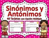 Sinónimos y Antónimos Task Cards - SPANISH