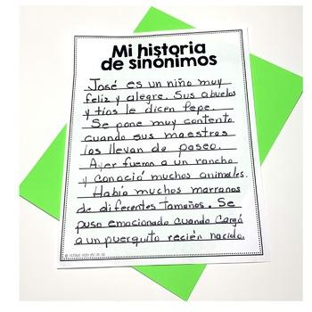 Sinonimos - Synonyms in Spanish