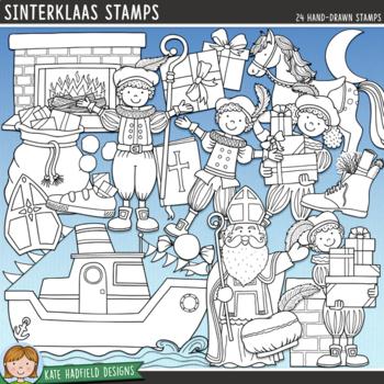 Christmas Around the World: Sinterklaas Clip Art