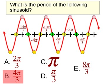 Sinusoids in Radians: Writing an Equation of Sine and Cosine for Power Point