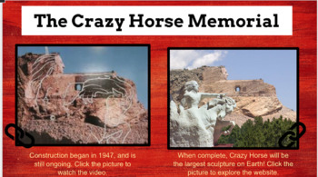 Crazy Horse Sioux Hero and Memorial Hyperdoc Lesson using Google Slides