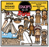 Sioux Indians Clip Art Bundle {Educlips Clipart}