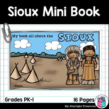 Sioux Tribe Mini Book for Early Readers - Native American Activities
