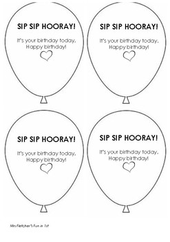 image relating to Sip Sip Hooray Printable named Sip Sip Hooray!