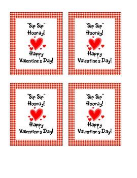 Sip Sip Hooray! Happy Valentines Day!