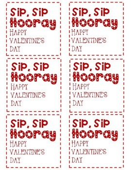photo about Sip Sip Hooray Printable known as Sip Sip Hooray! Tag