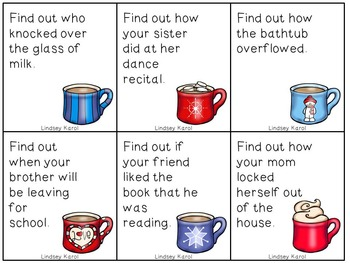 Sip of Hot Chocolate: A Question Asking Activity for You