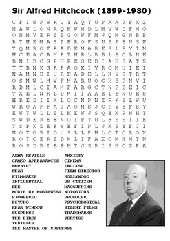 Sir Alfred Hitchcock Word Search