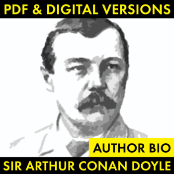 Sir Arthur Conan Doyle Author Study Worksheet, Easy Biography Activity, CCSS