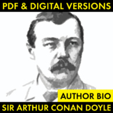 Sir Arthur Conan Doyle Author Study Worksheet, Easy Biogra