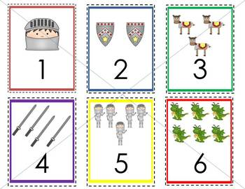 Sir Brave-a-lot ABC and 123 Flashcards