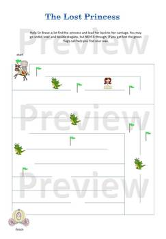 Sir Brave-a-lot Preschool Workbook Expansion Pack Printable, knights and dragons