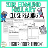 Sir Edmund Hillary Close Reading Passage and Higher Order