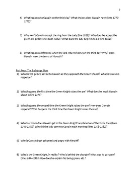 Sir Gawain and the Green Knight Discussion Questions