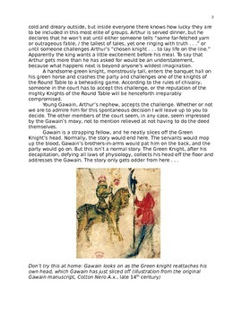 Sir Gawain and the Green Knight Reading Guide