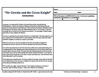 """Sir Gawain and the Green Knight"": Annotation Organizer"