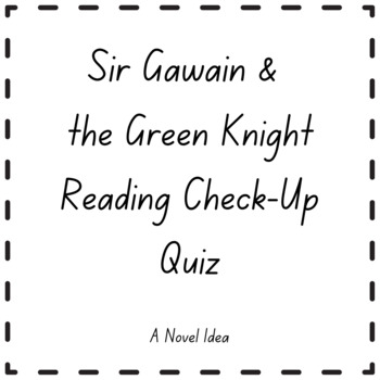 Knights reading teaching resources teachers pay teachers sir gawain the green knight reading check up quiz fandeluxe Gallery