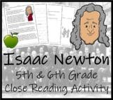 Sir Isaac Newton - 5th & 6th Grade Close Reading Activity