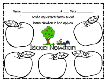 Sir Isaac Newton Apple Web-Graphic Organizer