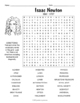 Isaac Newton Biography Word Search