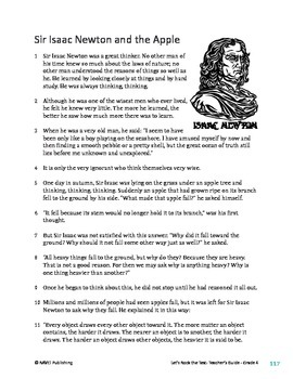 Healthy Food Essay Sir Isaac Newton And The Apple  Informational Text Test Prep How To Write A Essay For High School also Essay For Students Of High School Sir Isaac Newton And The Apple  Informational Text Test Prep  Tpt Examples Of A Thesis Statement For An Essay