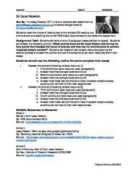 Narrative Essay Example For High School Sir Issac Newton Contributions To Science Mini Research Essay Essay Papers For Sale also Science Fiction Essay Topics Sir Issac Newton Contributions To Science Mini Research Essay By  Healthcare Essay Topics