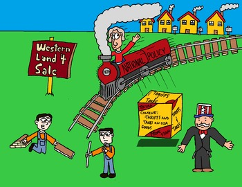 Canadian History Cartoon - Sir John A MacDonald's National Policy