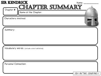 Sir Kendrick by Chuck Black Novel Study